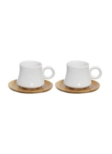 Herevin Bambulu İkili Kahve Fincan Takımı Renkli